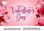 valentines day vector banner...   Shutterstock .eps vector #1878339562