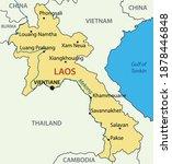lao peoples democratic republic ... | Shutterstock . vector #1878446848
