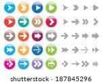 vector object   arrow set | Shutterstock .eps vector #187845296