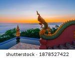 Sunrise With Fog At Wat Phra...