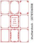 vector set of rectangular... | Shutterstock .eps vector #1878536008