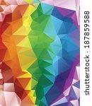 abstract rainbow geometric... | Shutterstock .eps vector #187859588