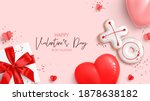 happy valentine's day holiday... | Shutterstock .eps vector #1878638182
