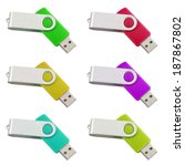 Six Differently Colored Usb...