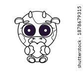 cute cheerful  childish ... | Shutterstock .eps vector #1878679315