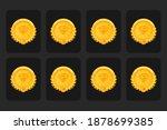 vector game level medal set....