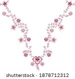 pretty stitched neck embroidery ...   Shutterstock .eps vector #1878712312