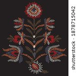 tribal embroidery motif with... | Shutterstock .eps vector #1878715042
