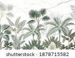 wallpaper of various tropical... | Shutterstock . vector #1878715582