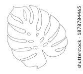 large leaf of monstera plant ... | Shutterstock .eps vector #1878784465
