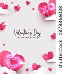 valentines day modern design...   Shutterstock .eps vector #1878866038