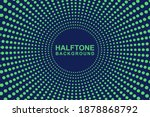 halftone green and blue comic... | Shutterstock .eps vector #1878868792