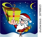 santa delivers presents | Shutterstock .eps vector #18788815