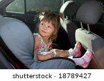 a little girl sitting in the car | Shutterstock . vector #18789427