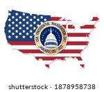 usa presidential inauguration...   Shutterstock .eps vector #1878958738