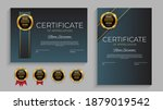 blue and gold certificate of... | Shutterstock .eps vector #1879019542