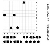An illustration of the starting position of a battleships puzzle for mental activity