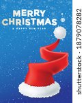 merry christmas poster greeting ... | Shutterstock .eps vector #1879078282
