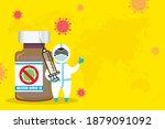 anti covid 19 vaccination... | Shutterstock .eps vector #1879091092