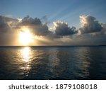 Sunrise Horizon Sun Behind...