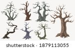 picture set of big trees... | Shutterstock .eps vector #1879113055