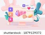 digital social marketing.... | Shutterstock .eps vector #1879129372