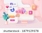 digital social marketing.... | Shutterstock .eps vector #1879129378