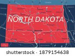 north dacota state detailed... | Shutterstock .eps vector #1879154638