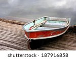 Row Boat On Dock
