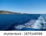 Mediterranean Sea. Boat White...