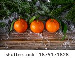 Christmas Wooden Background...