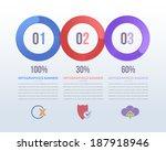 paper style infographics... | Shutterstock .eps vector #187918946