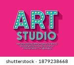 vector trendy banner art studio.... | Shutterstock .eps vector #1879238668