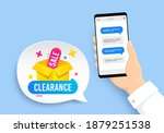 clearance sale banner. hand...