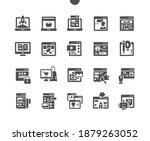 website types. landing page....   Shutterstock .eps vector #1879263052