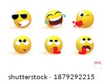 emoji objects icons. emoticon... | Shutterstock .eps vector #1879292215