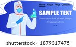 doctor holding test tube with... | Shutterstock .eps vector #1879317475