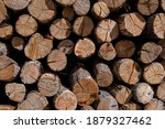 A Stack Of Firewood Lumber  The ...