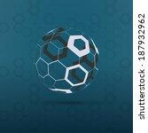 Globe Design Vector Illustration - Hexagon Surface Pattern - stock vector