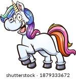 cute cartoon colorful unicorn... | Shutterstock .eps vector #1879333672