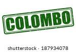 colombo grunge rubber stamp on... | Shutterstock .eps vector #187934078