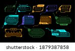 hud game elements. luminescent...