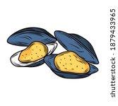 seafood clams menu gourmet...   Shutterstock .eps vector #1879433965