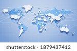 vector outline image of planet... | Shutterstock .eps vector #1879437412