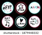 birthday topper round circle... | Shutterstock .eps vector #1879448332