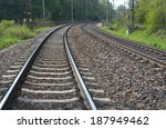 railroad tracks on a sunny day | Shutterstock . vector #187949462