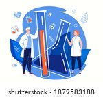 science lab. medical research.... | Shutterstock .eps vector #1879583188