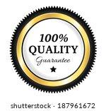 golden premium quality badge   Shutterstock .eps vector #187961672