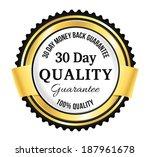 golden premium quality badge | Shutterstock .eps vector #187961678