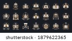 vintage castles vector logos or ... | Shutterstock .eps vector #1879622365